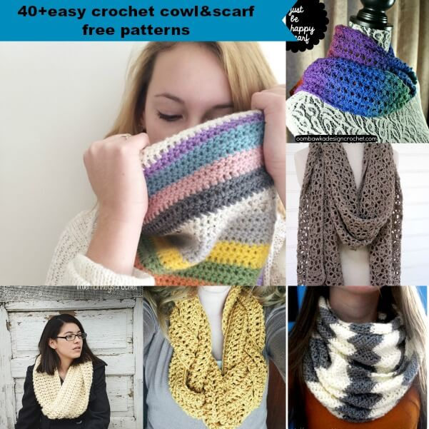40 Free Easy Crochet Cowl Scarf Patterns