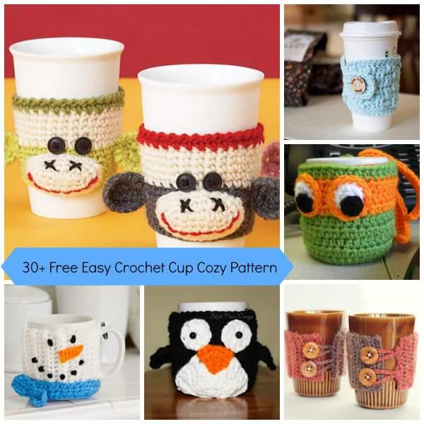 30 Free Easy Crochet Cup Cozy Pattern