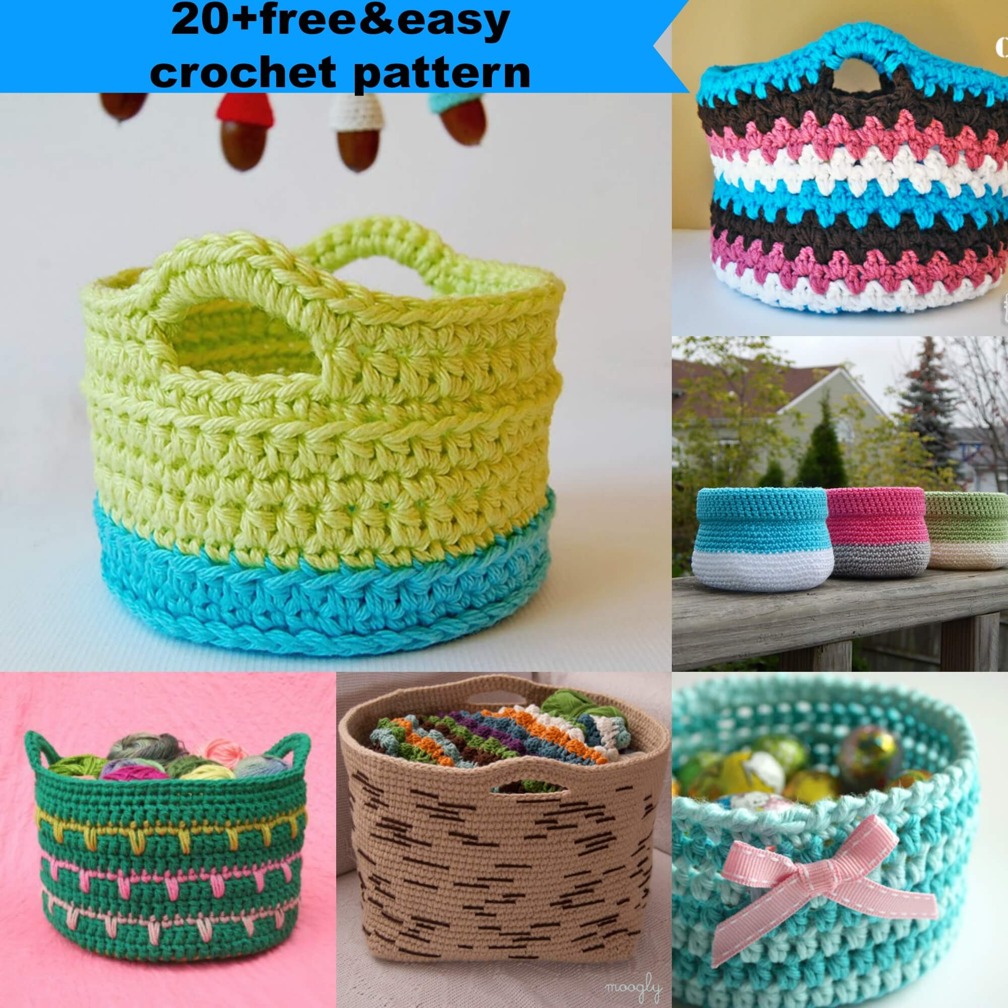 20+freeu0026easy crochet pattern by jennyandteddy & 23 free u0026easy crochet baskets patterns