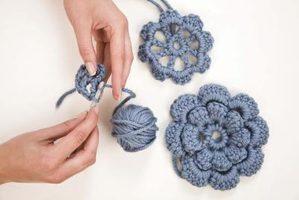 23.flower crochet8 petal easy how to tutorial free pattern