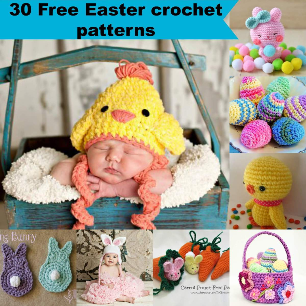 30 free easy Easter crochet patterns