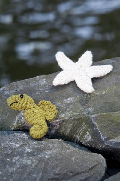 20.seahorse and starfish crochet