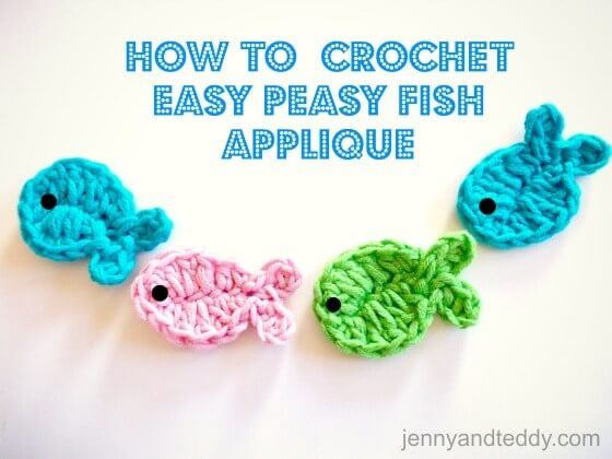 5. crochet fish-applique