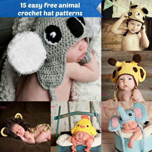 15 Easy Free Animal Crochet Hat Free Patterns