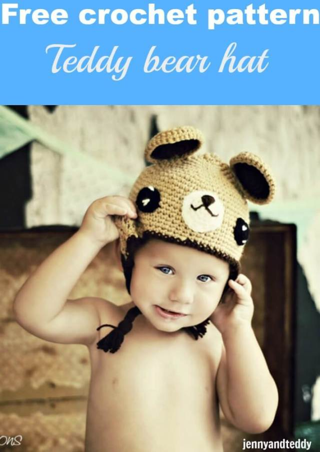 free crochet pattern teddy bear hat by jennyandteddy