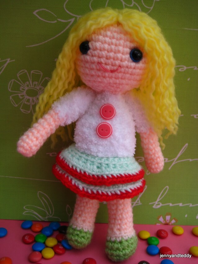 Amigurumi Doll Tutorial For Beginners : Amy Girl Amigurumi Free Crochet Pattern
