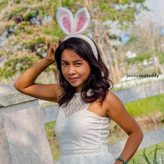 30 minutes bunny ear crochet headband free pattern