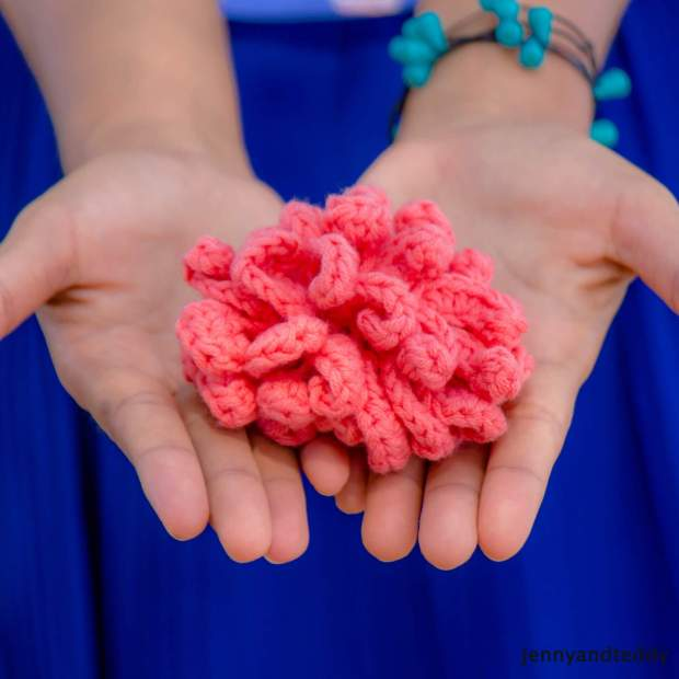 flower face scrub free crochet pattern