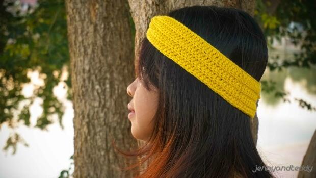 simple knot headband frr crochet pattern