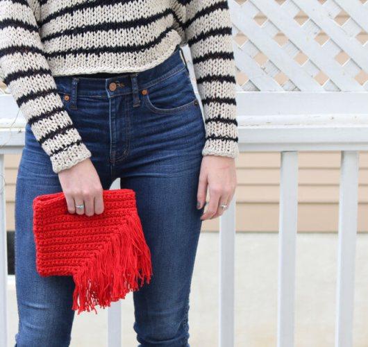 fiesta fringe clutch free crochet pattern