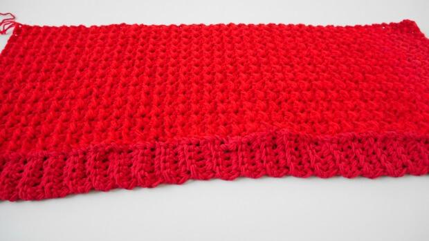 1crochet hoodie long pocket scarf