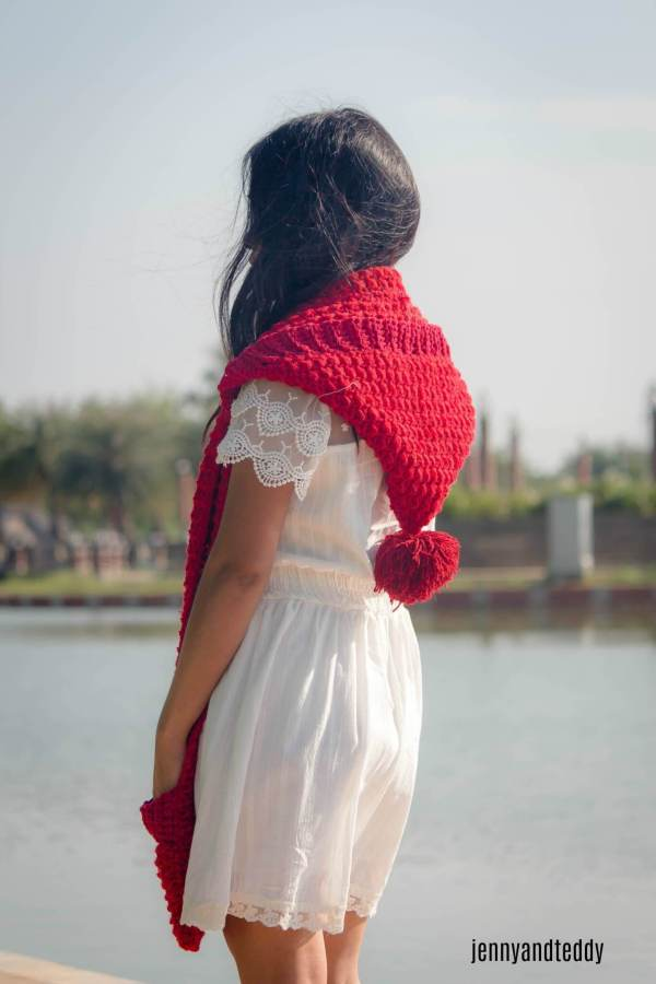 1free crochet pattern long hoodie pocket scarf