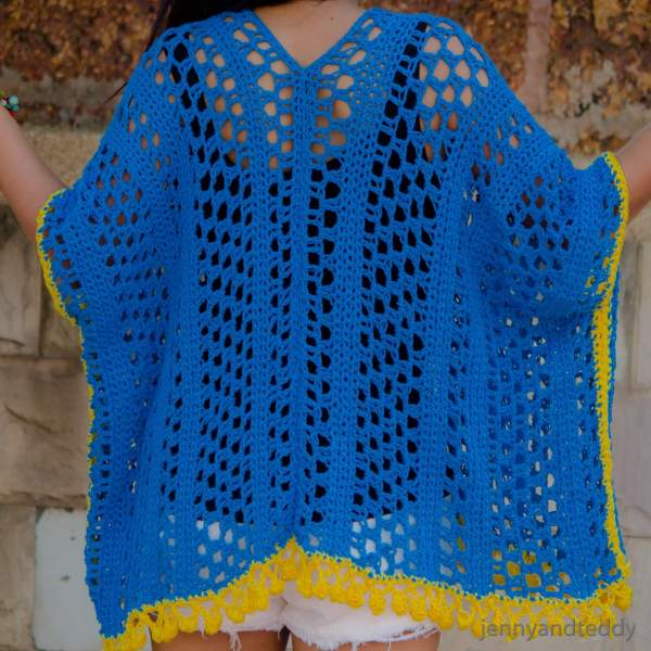 crochet kimono cardigan free pattern easy