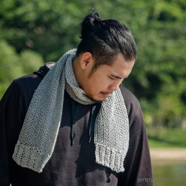 easy crochet men scarf pattern free