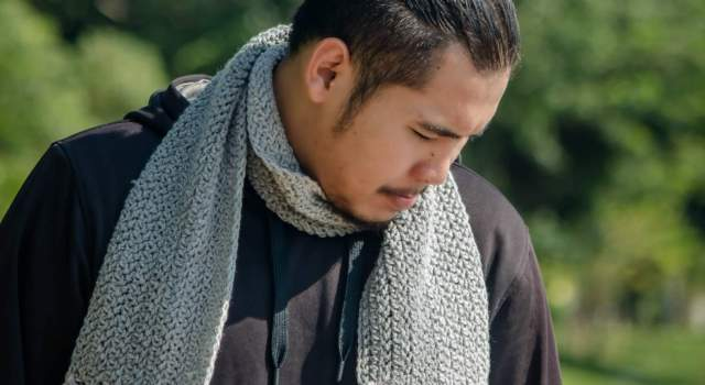 easy crochet men scarf pattern free