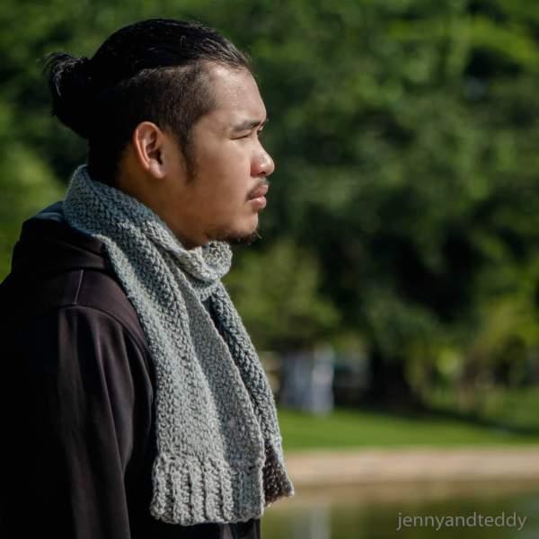 herringtagebone crochet scarf free easy pattern