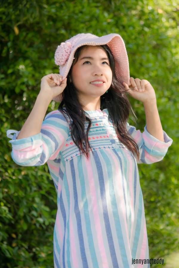 sea breeze wide brim crochet sun hat free pattern2