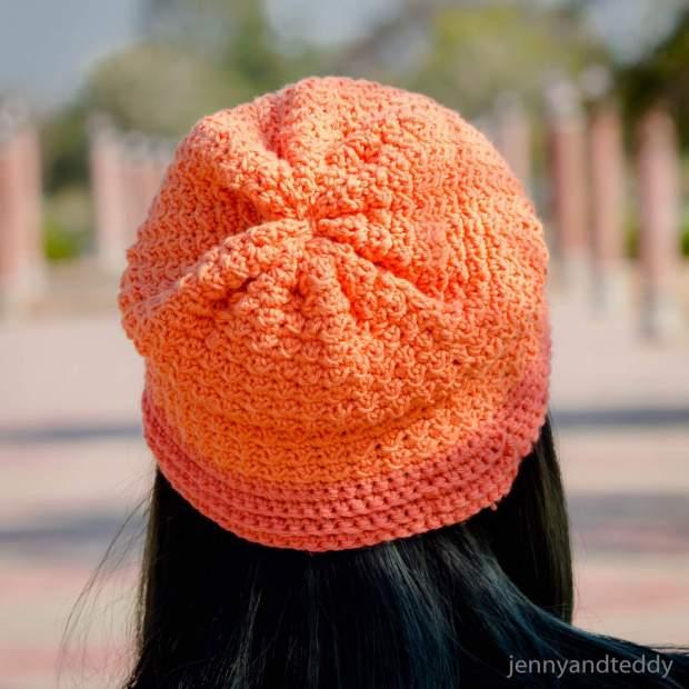 1easy abigail beanie hat free crochet pattern