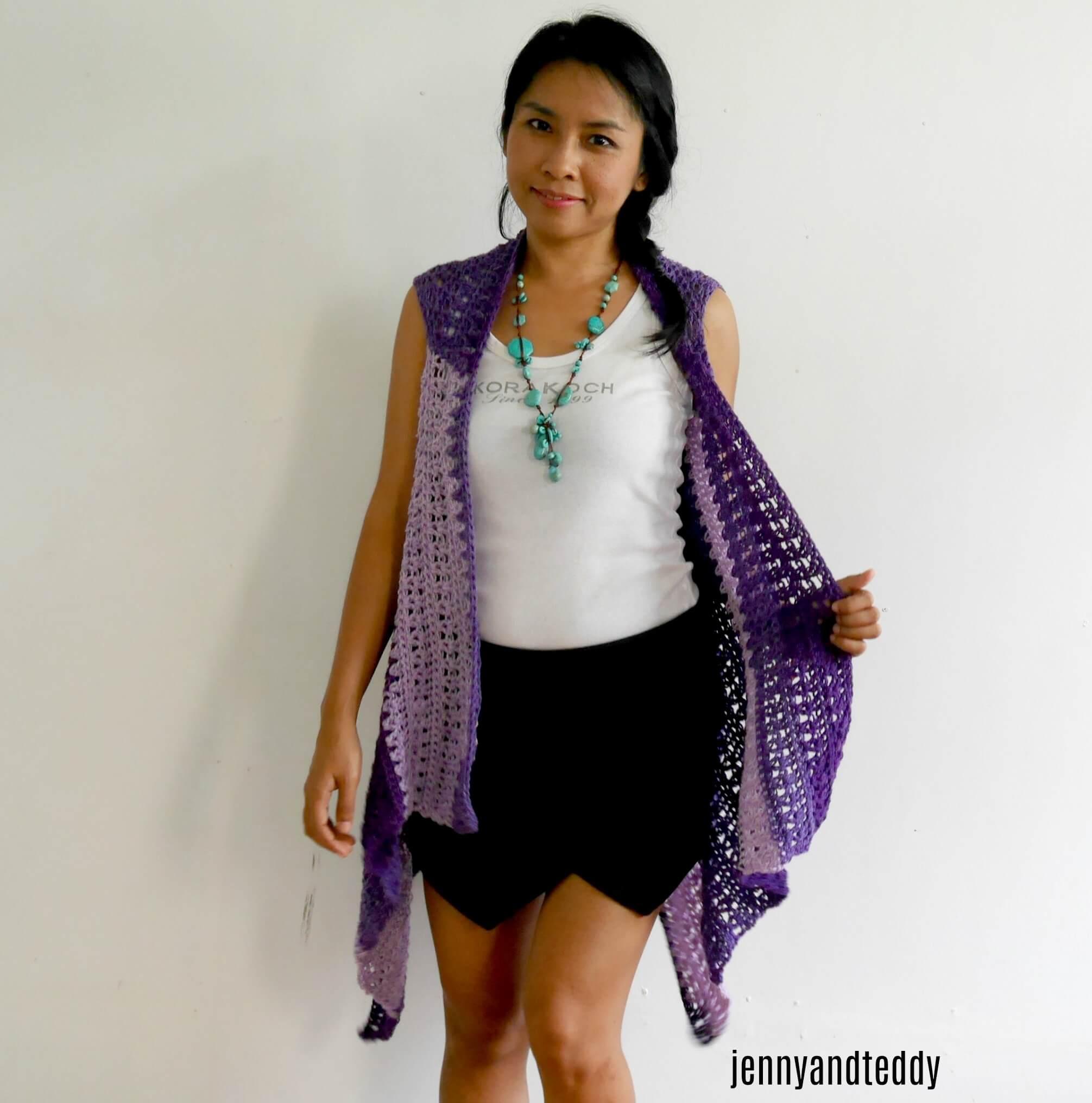 Light weight spring vest free crochet pattern