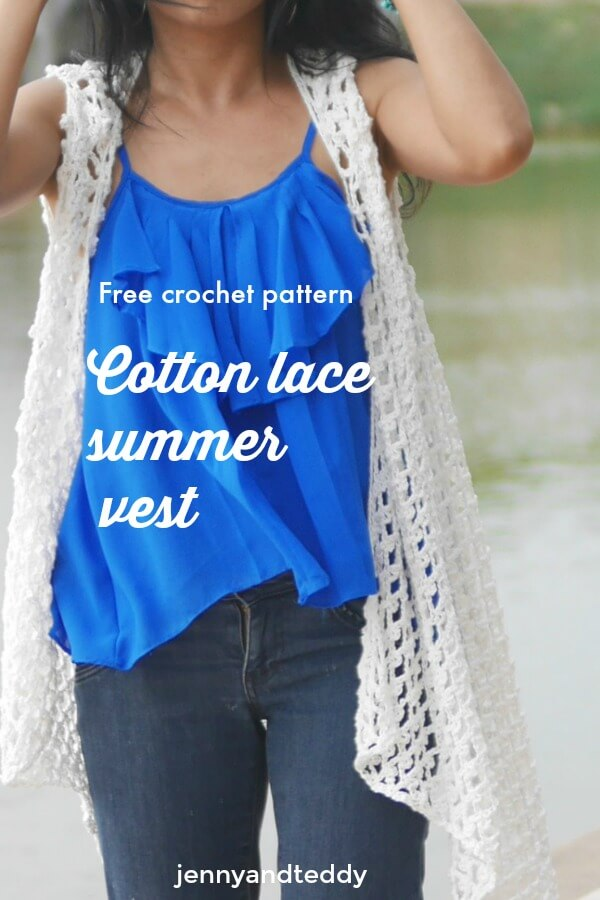 Cotton Lace Summer Vest Free Crochet Pattern