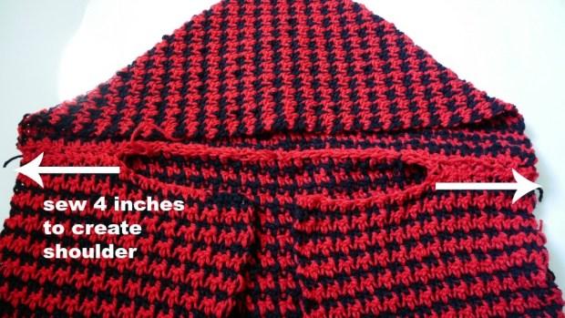 crochet hooded vest east beginner