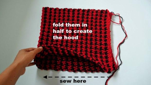 hooded crochet vest