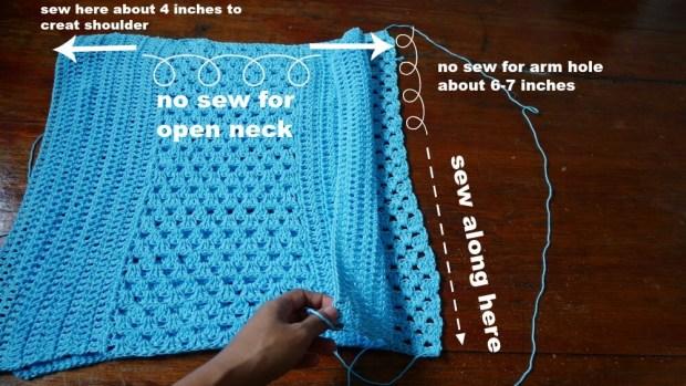 assemble crochet top tee