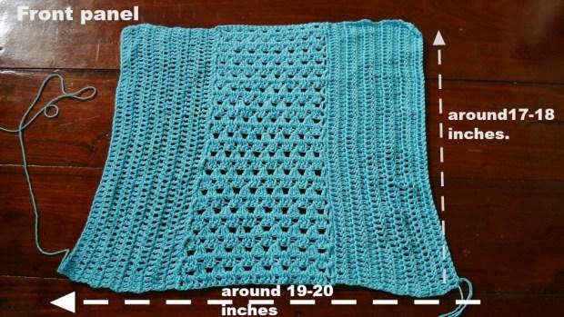top teee crochet front panel