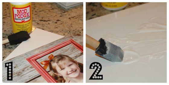 Modge Podge & sponge brush