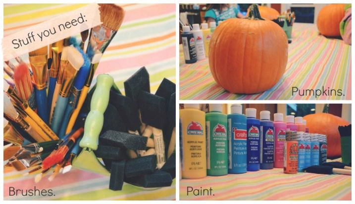 How To Paint A Pumkin supplies via @jennyonthespot | jennyonthespot.com