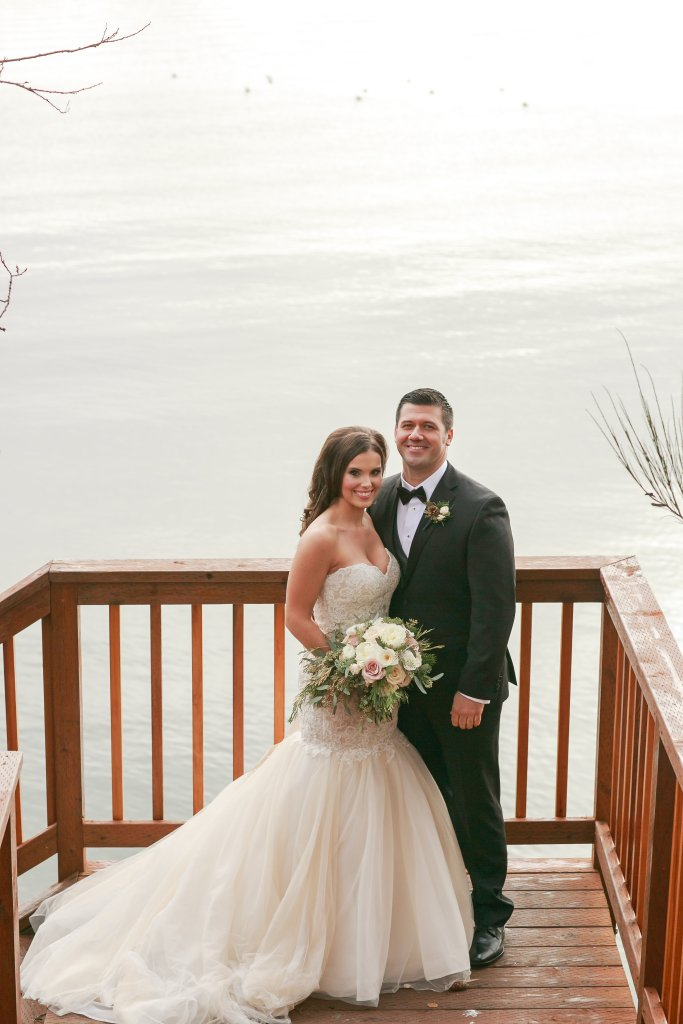 Port Gamble Wedding, Bride & Groom, Waterfront