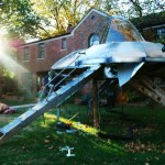 This dad gets the prize for coolest Halloween decorations ever: Homemade Alien Spaceship