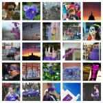 purple collage