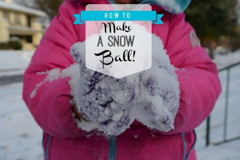 How To Make A Snowball