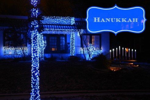 Hanukkah Lights on House
