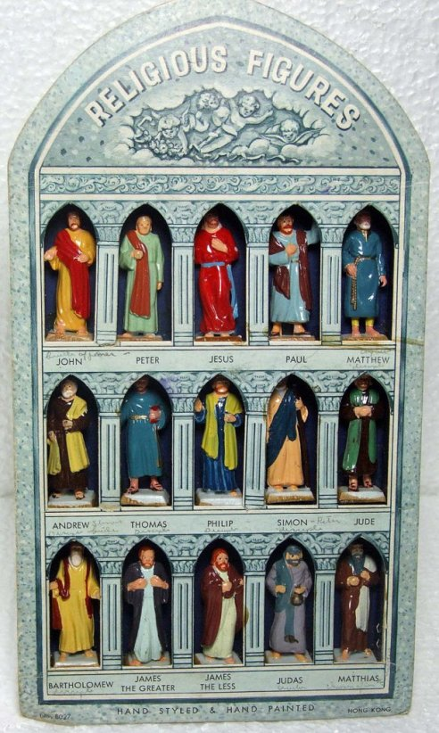 Religious figures including 12 disciples, Jesus and Paul the Apostle