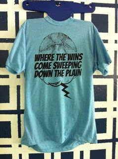 Where the Wins Come Sweeping Down the Plain T-shirt