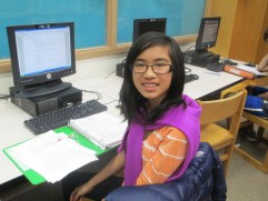 """Sabrina Wong, 9th grade. """"I'm passionate about art and writing because I feel I'm better at those two things. I like sculpting, writing poetry, and drawing. My favorite writer is Edgar Allan Poe. Out of all of his poems, I like 'The Bells' the best."""""""