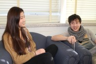 """Alex Elguera and Agnes Bae, 12th Grade. """"Alex, what was the best day of your life?"""" """"The day I was born."""" Agnes replies, """"You can't remember that."""" """"I don't need to remember. It was just the best."""""""