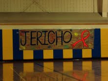 Jericho High School shows its support at sporting events during the month of October.