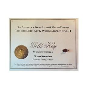 Sivan Komatsu's award