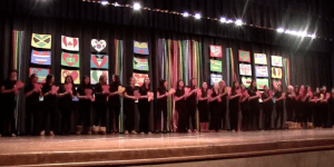 Members of the Spanish Honor Society perform at this year's Diversity Day.