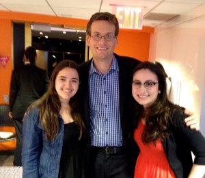 JerEcho reporters Carly Lapidus pose with The Fault in Our Stars author John Green
