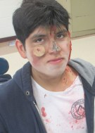 "Straight off the set of a horror film, William Salinas has been awarded, ""Most Likely to be an Extra in 'The Walking Dead'."""