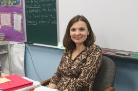 "English teacher Patricia Gulitti. ""It is very interesting how most of our holidays fall at the end of winter, the end of summer, the beginning of fall or spring. It is all interconnected, and I think sometimes people need to realize that. """