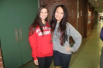 Nina Modica (left) is excited to meet new people and get out of Jericho when she leaves for Sacred Heart University.