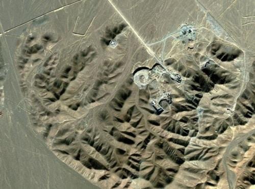 A satellite image of Iran's Fordo enrichment plant, near Qum (AFP/Getty)