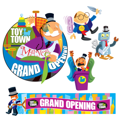 TOY TOWN - Value City Toy Department Logos