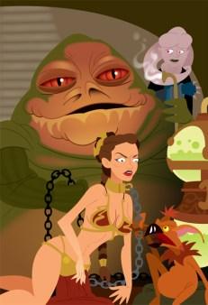 RETURN OF THE JEDI - Jabba & Leia