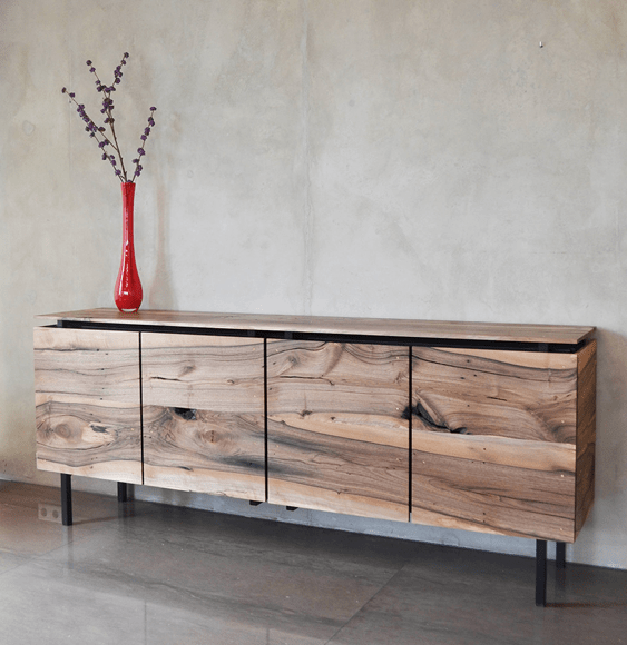 dressoir gerecycled noten